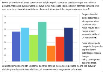 Word दस्तावेज़ में चिपकाए गए Excel चार्ट का एक उदाहरण