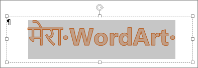 चयनित WordArt
