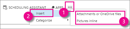 Outlook Web App में अधिक क्रियाएँ बटन