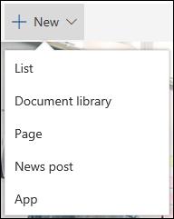 किसी SharePoint साइट पर कोई नया आइटम जोड़ें