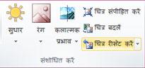Publisher 2010 में चित्र बटन रीसेट करें