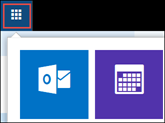 वेब पर Outlook अनुप्रयोग लॉन्चर