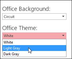 कोई भिन्न Office विषयवस्तु चुनना