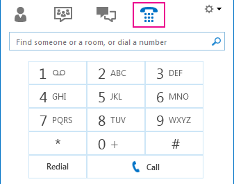 डायल पैड दिखाते हुए फ़ोन चिह्न का स्क्रीन शॉट, जिसे कॉल करने के लिए उपयोग किया जा सकता है