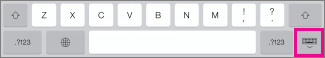 Tap the Keyboard key in the lower-right to hide the keyboard