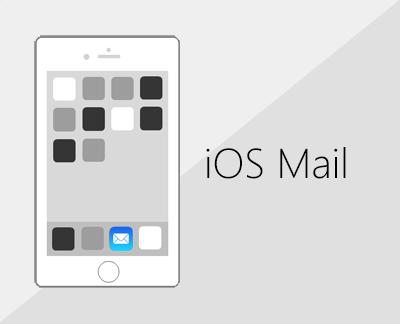 IOS मेल अनुप्रयोग में ईमेल सेट करने के लिए क्लिक करें.