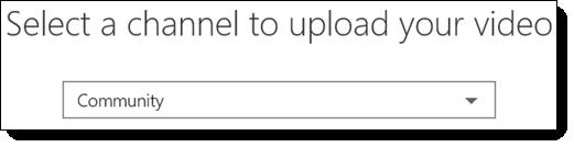 अपने वीडियो अपलोड करने के लिए office 365 वीडियो का चयन करें चैनल