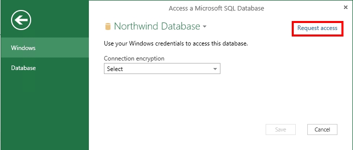 किसी डेटा स्रोत पर पहुँच प्राप्त करने के लिए अनुरोध करना