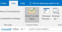 Outlook केंद्रित इनबॉक्स सुविधा