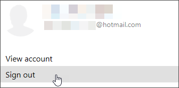 स्क्रीन कैप्चर मेरा खाता ड्रॉप-डाउन से साइन आउट दिखा रहा है