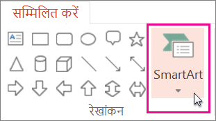 SmartArt सम्मिलित करना