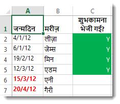 Excel में नमूना सशर्त स्वरूपण
