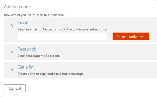 """डिफ़ॉल्ट रूप से खोलें ईमेल विकल्प के साथ """"किसी व्यक्ति को जोड़ें"""" संवाद बॉक्स का स्क्रीन शॉट।"""