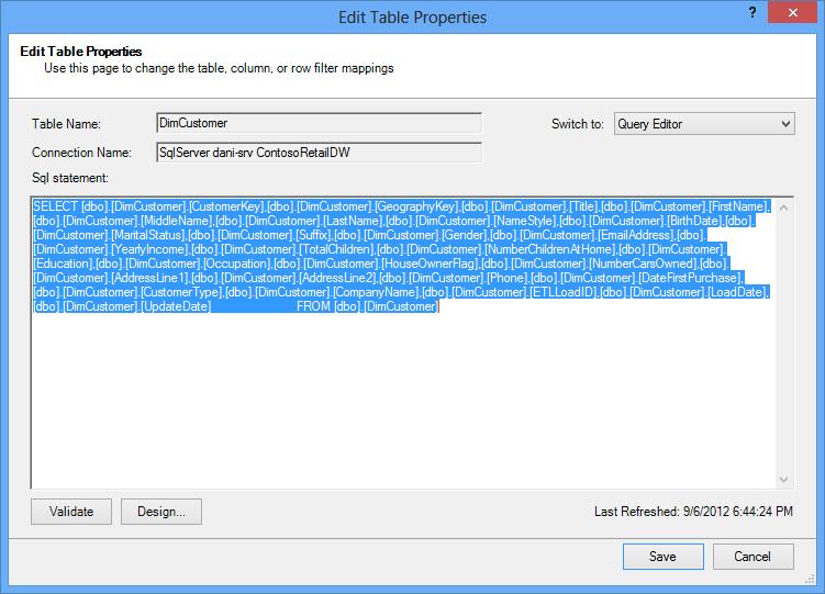 डेटा को पुनर्प्राप्त करने के लिए उपयोग की गई SQL क्वेरी