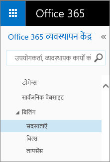 Link to the Subscriptions page in Office 365 Small Business Premium.