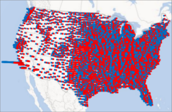 Power Map में स्तंभ चार्ट