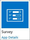 SharePoint के साथ शामिल सर्वेक्षण अनुप्रयोग चिह्न