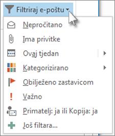 Filtriraj e-poštu