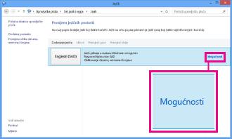 Dodavanje načina unosa na upravljačkoj ploči sustava Windows 8