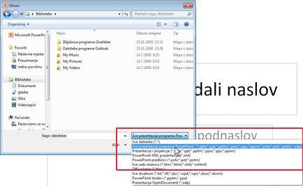 Otvorite datoteku programa PowerPoint 2010.