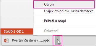 Otvaranje datoteke koju ste spremili na lokalno računalo