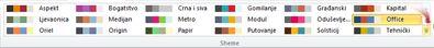 dodatne sheme boja u programu publisher 2010