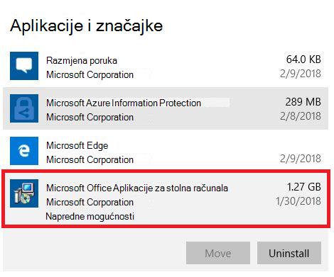 Aplikacije sustava Microsoft Office za računala