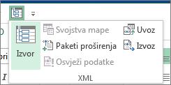 Na alatnoj traci za brzi pristup kliknite XML