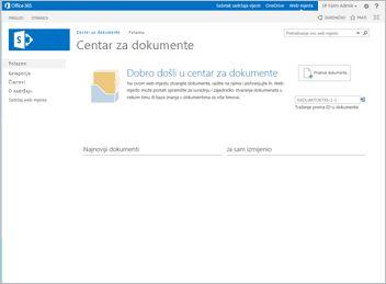 Predložak web-mjesta centra za dokumente