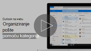 Minijatura slike organiziranja e-pošte pomoću videozapisa kategorije