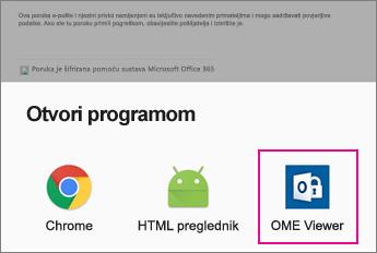 OME Viewer pomoću aplikacije za e-pošte za Android 2