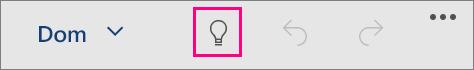 """Prikazuje ikonu """"Recite mi"""" u sustavu Office za Windows 10 Mobile"""