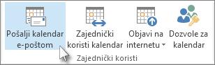 Slanje kalendara e-poštom
