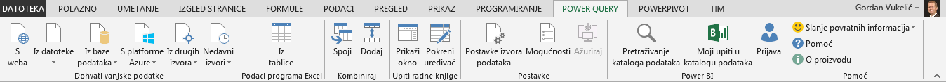 Vrpca dodatka Power Query