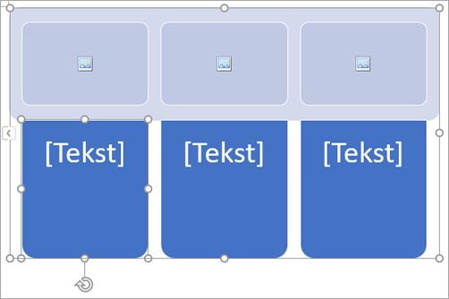 SmartArt grafika s rezerviranim mjestima za sliku