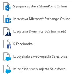 Dohvaćanje podataka iz internetske servise