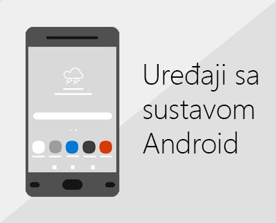 Kliknite da biste postavili Office i e-poštu na uređajima sa sustavom Android