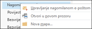 Upravljanje nagomilanom e-poštom