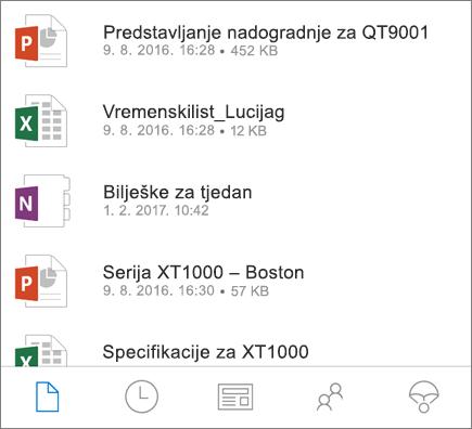 OneDrive za mobilne uređaje