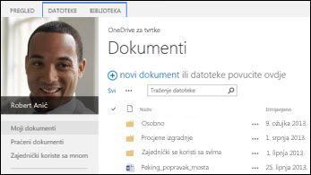 OneDrive za tvrtke u sustavu SharePoint 2013