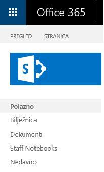 Pronalaženje veze sa sustavom SharePoint.