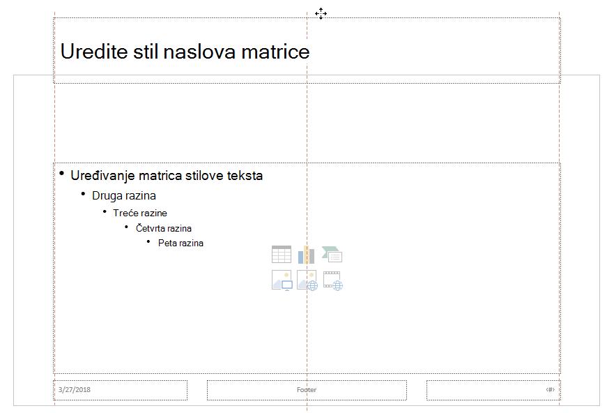 Povucite rezervirano mjesto naslova prema gore i ispustite ga izvan granicu vidljivi slajda