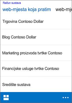 iOS pratiti web-mjesta