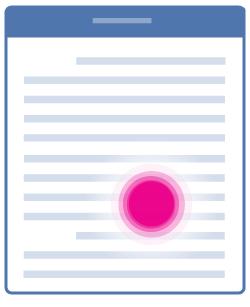 Postavljanje pokazivača unutar teksta