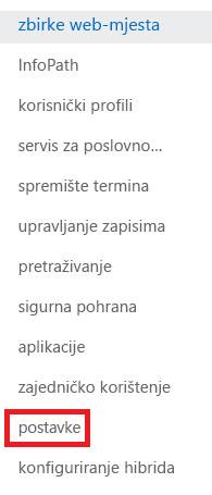 Snimka zaslona okna zadatka zbirke web-mjesta