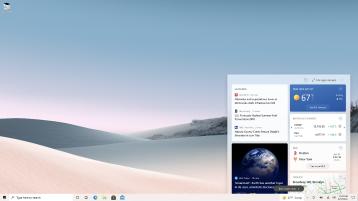Snimka zaslona s otvorenim novostima i interesima na zaslonu PC-ja