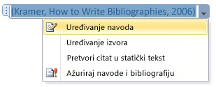 Click the down-arrow and then click Edit Citation