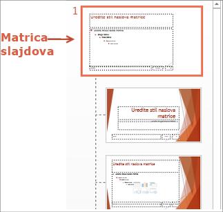 Odaberite matricu slajdova