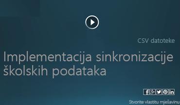Implementacija videozapisa o sinkronizaciji školskih podataka