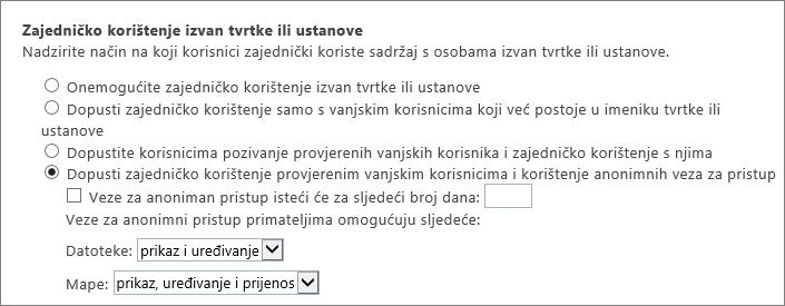 Klijent vanjskog zajedničkog korištenja stranice